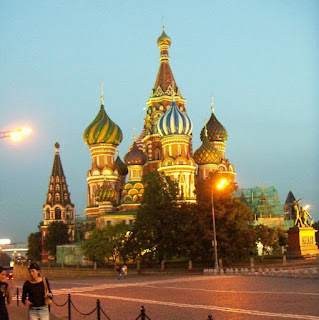 St Basil's Cathedral Moscow, Red Square, shot was made in early September 2004, about 10 PM.