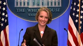 Dana M. Perino, Vidcap from White House Briefing