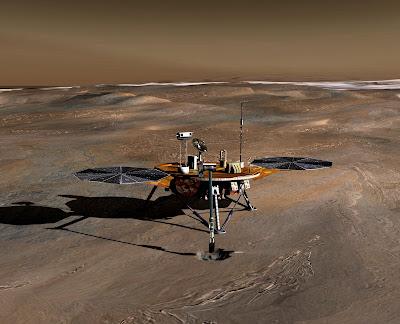 Phoenix Mars Lander on Mars
