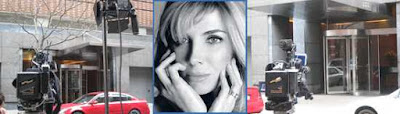 Images On Left And Right NYC UWS Outside Residence Of The Late Natasha Richardson by tex Center Image Natasha Richardson From The Roundabout Theatre NYC