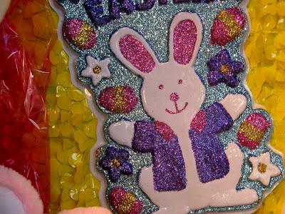 Easter Rabbit Glitter Bunny