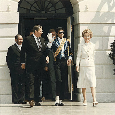 President Reagan and Michael Jackson