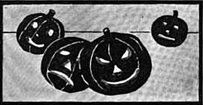 4 Pumpkins Jack O' Lanterns