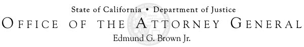 California Dept. of Justice - Office of the Attorney General