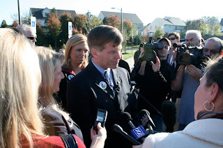 Bob McDonnell Votes on Election Day
