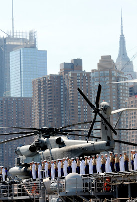 USS Iwo Jima Fleet Week New York Skyline 2010
