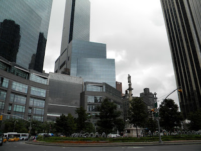 Columbus Circle on a Cloudy Day