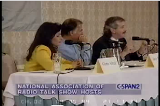 Jerry Brown sitting next to Gloria on CSPAN panel in 94