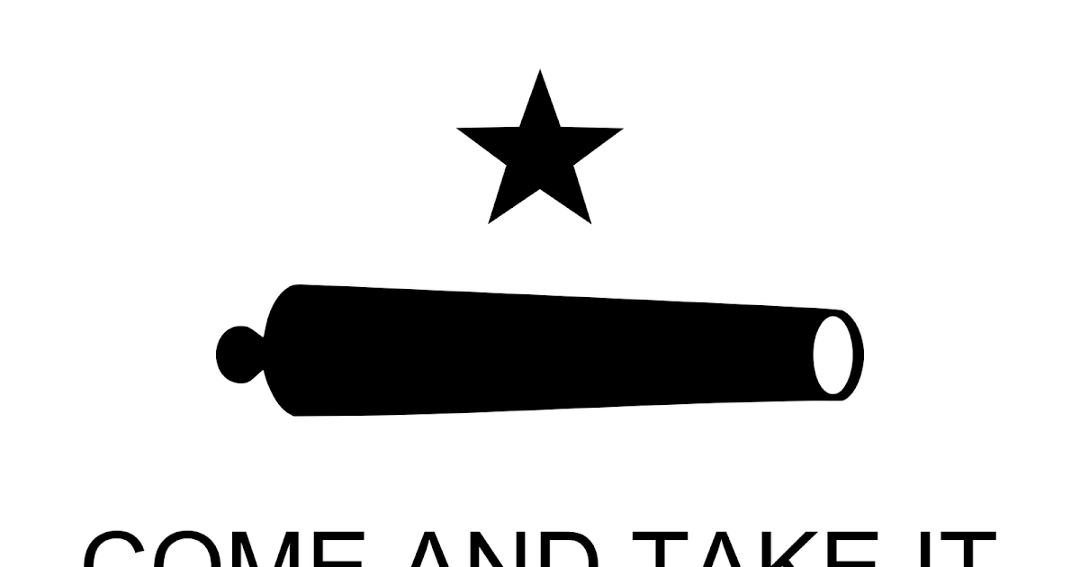 Texas Flag Come and Take It Public Domain Clip Art Photos and Images