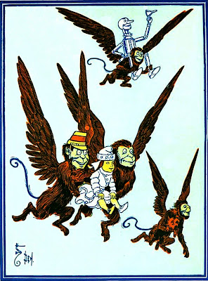 Winged monkeys flying monkeys Wizard of Oz