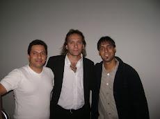 Gonzalito y Gianni con Miguel