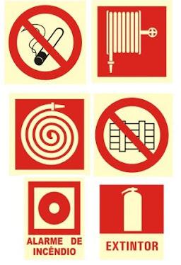 Sinalização de Combate Incendio e Advertencia