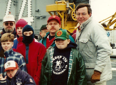 Sam, age 13, 2nd from left, back row, in red hooded sweatshirt