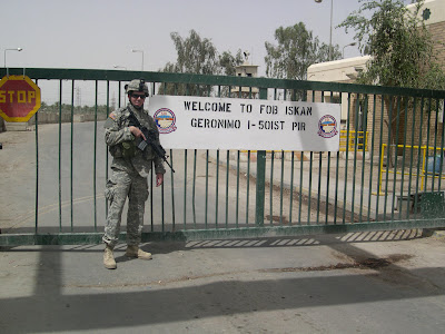 April 27, 2007. Front gate, FOB Iskan, Iraq