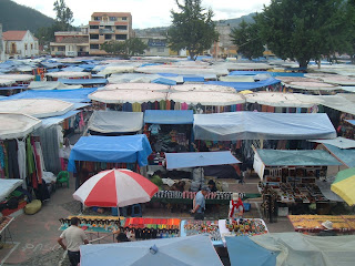 Saturday market in Otavalo.