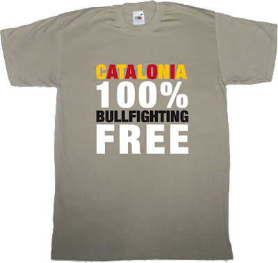 catalonia Bullfighting t-shirt ephemeral-t-shirts