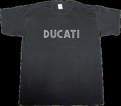 Bikes ducati Motorcycle vintage t-shirt ephemeral-t-shirts