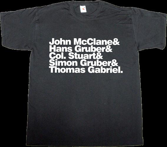 Dies Shirt Die Hard Helvetica T-shirt