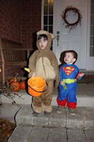 The Monkey & Superman go trick or treating