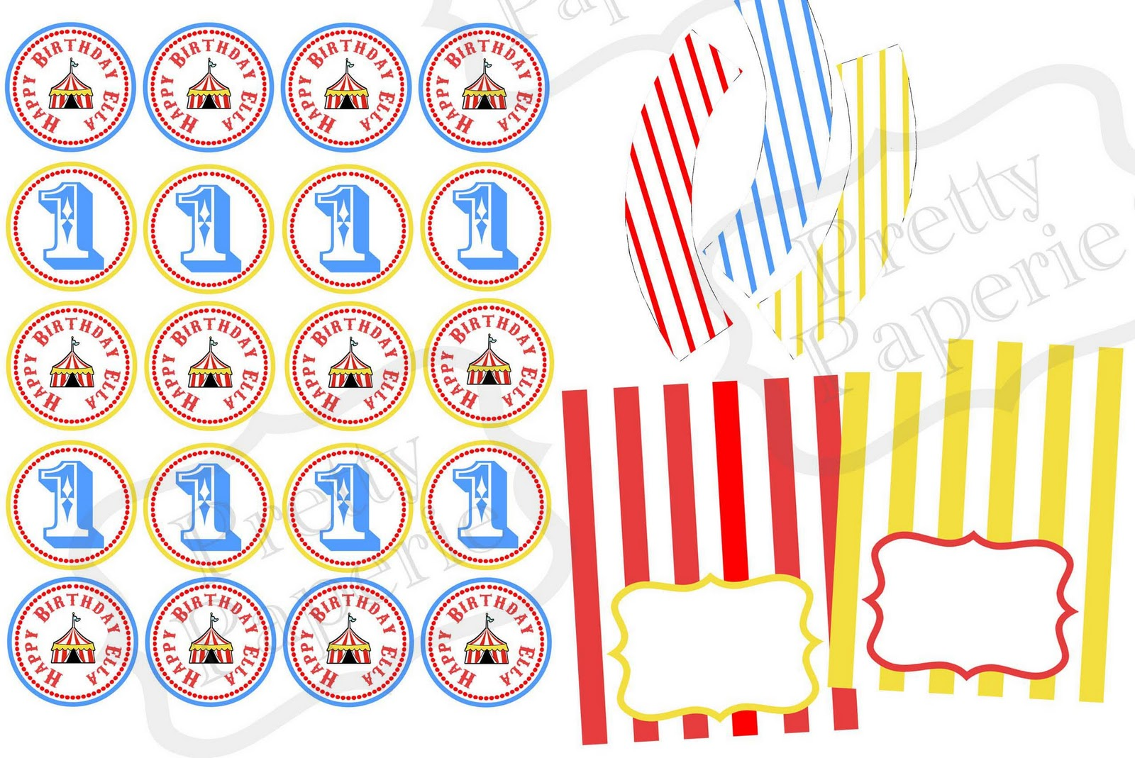 Recent client circus theme party printables for Circus printables