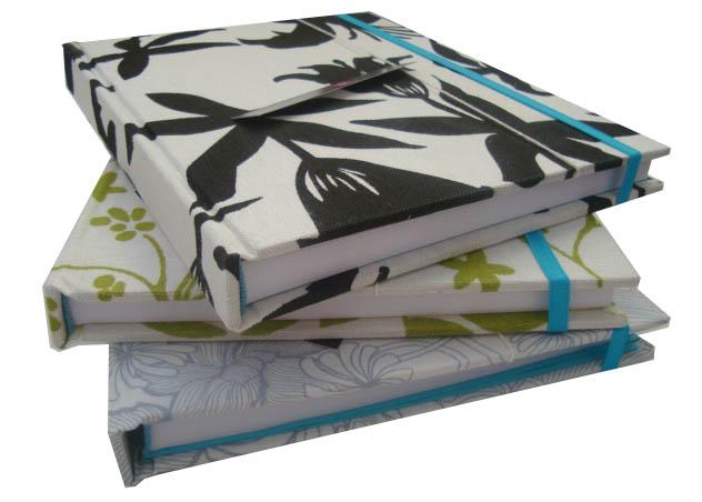 NUEVOS! Cuadernos de 18.5cm x 22.5cm, forrados en tela