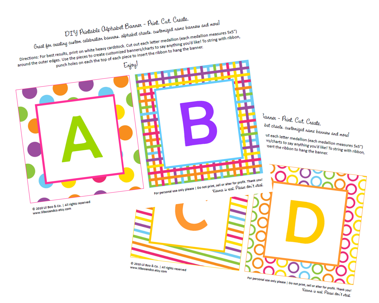 Get Crafty with Nicole ~ FREE Printable ABC Party Banner