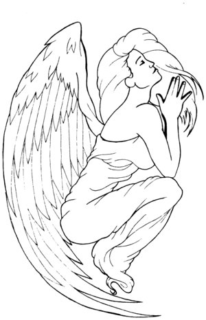 Angel Praying Tattoo clip art SassyMummy SassyMummy is offline. DD and Me.