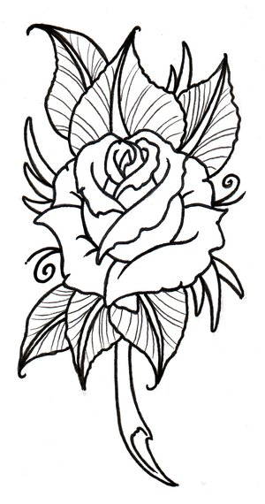 tribal rose tattoos. tribal rose tattoos