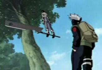 Zabuza Momochi sword standing kakashi hatake