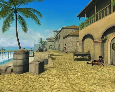 Ville espagnole tirée du jeu Pirates of the Burning Sea