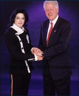 A bit of a weird question..... Michael+Jackson+and+President+Bill+Clinton