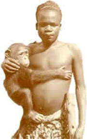 Ota Benga: Los evolucionistas enjaularon a un ser humano como si fuera un mono,¡VERGUENZA! Ota+benga