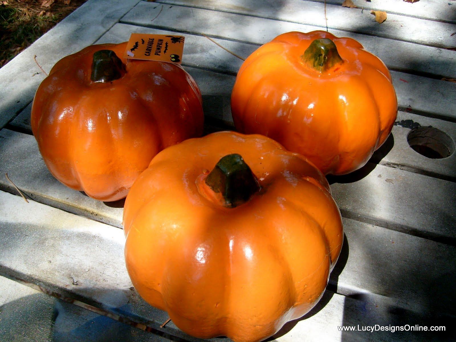 How to store pumpkins - Dollar Store Pumpkin Decor
