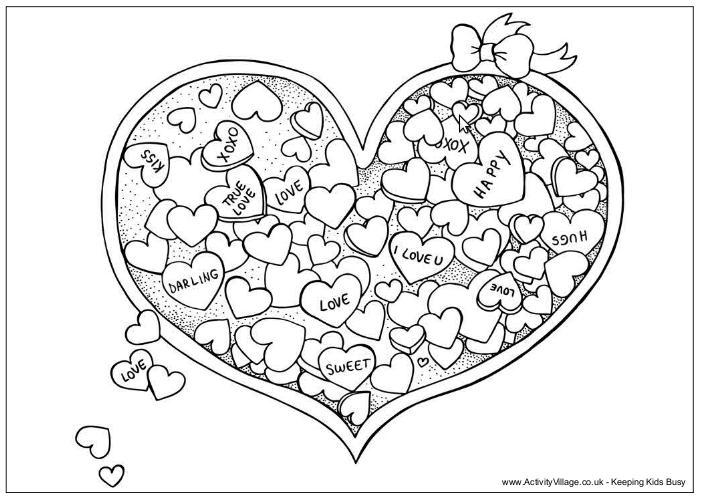 Dibujos tarjeta San Valentín colorear - Imagui