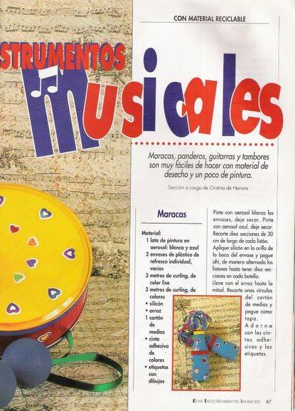 la infancia: ♥Instrumentos Musicales (Con Material reciclable