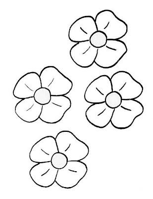 Flores para colorear (En el día de la primavera)♥