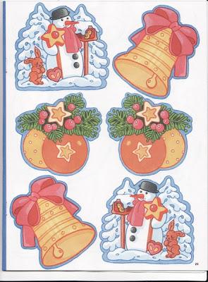 Dibujos De Navidad Listos Para Imprimir Y Pegar En Las Tarjetas