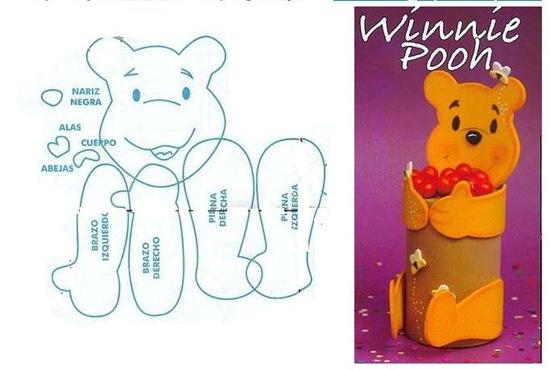 Moldes de Winnie Pooh en goma eva - Imagui