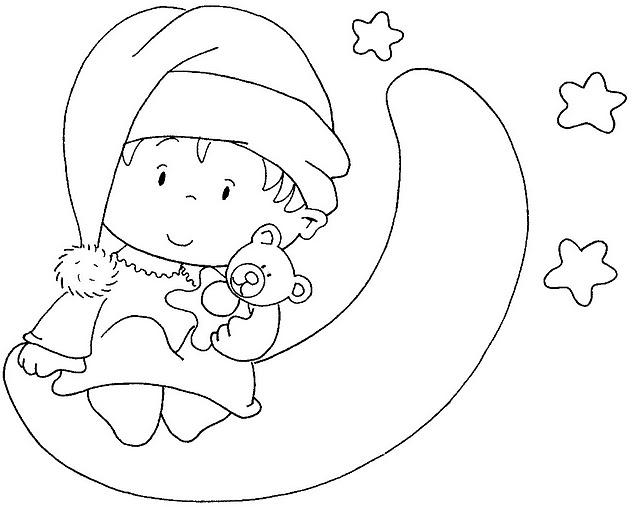 Bautizo bebé para colorear - Imagui