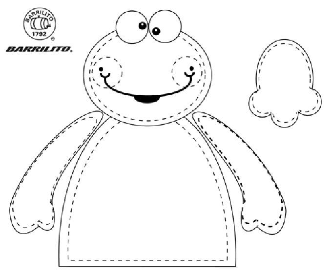 Manualidades para niños: dulcero sapito con moldes