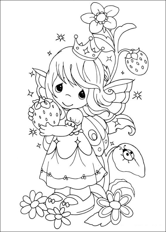 Dibujos de angelitos precious moments para colorear imagui for Precious moments angel coloring pages