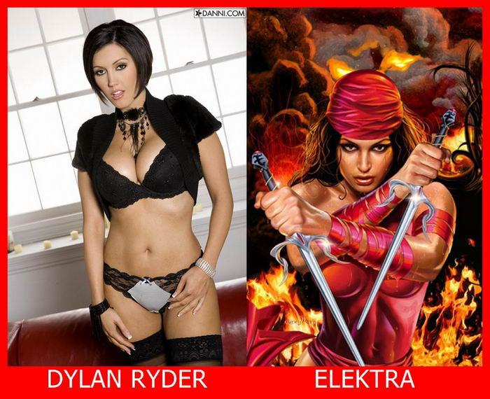 Dylan Ryder como Elektra