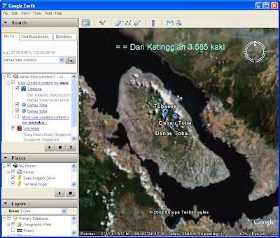 sumatra dengan google earth