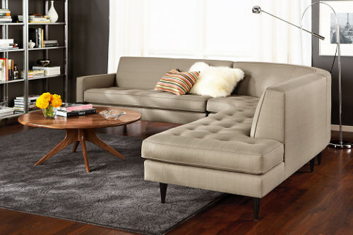 Nola girl trendy wednesday favorite finds at room and board for Reese sectional sofa room and board