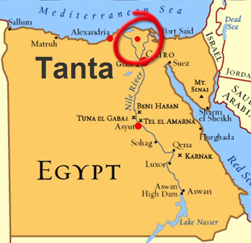 Tanta Egypt Map