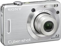Sony Cybershot DSCW55 7.2MP Digital Camera with 3x Optical Zoom (Silver)