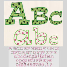 Polka Dot Font/Applique