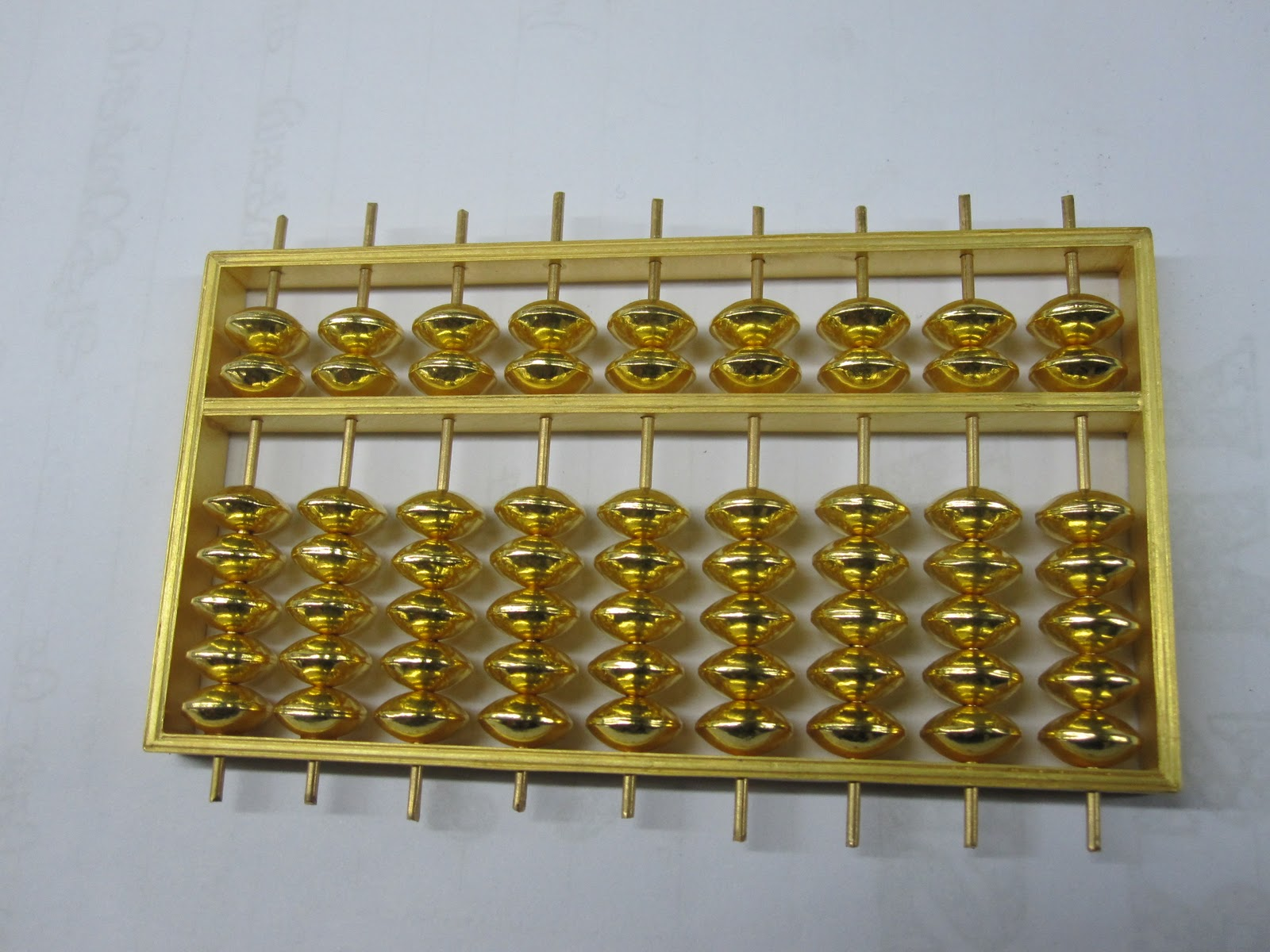 Gold money chain for Abacus cuisine of china
