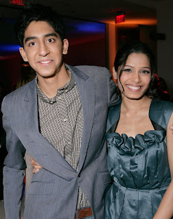 Slumdog Casting Dev Patel and Freida Pinto Cute Image