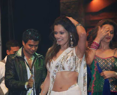 Payal Rohatgi White Saree Picture
